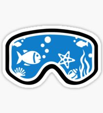 Diving goggles Sticker