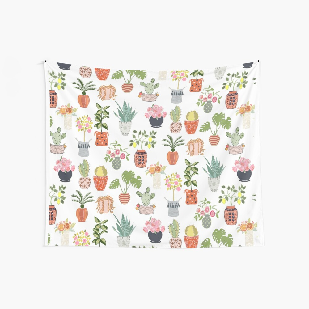 Indoor Planters Wall Tapestry