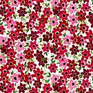 Raspberry Flowers by LIMEZINNIASDES
