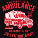 Rettungswagen-Kalifornien-Rettungswagen-T-Shirt von aashiarsh