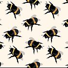 Bumble Bees Print by ZebraDesigns05