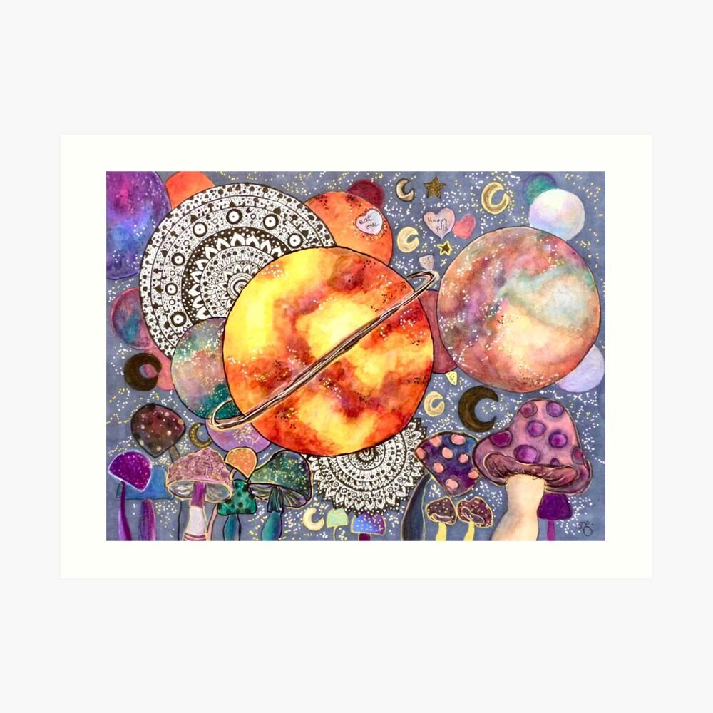Kosmisches Mandala Kunstdruck