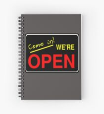 Come in! We're Open by Chillee Wilson Spiral Notebook