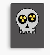 NUCLEAR FALL-OUT SKULL by Chillee Wilson Canvas Print