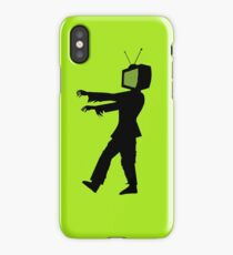 Zombie TV Guy by Chillee Wilson iPhone Case/Skin