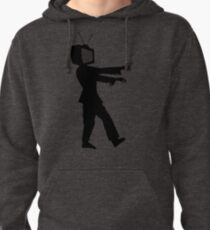 Zombie TV Guy by Chillee Wilson Pullover Hoodie