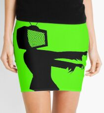 Zombie TV Guy by Chillee Wilson Mini Skirt
