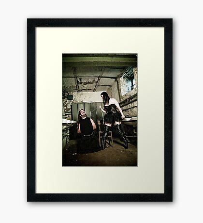 Behave yourself Framed Print