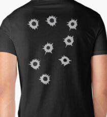 Bullet Holes by Chillee Wilson Men's V-Neck T-Shirt