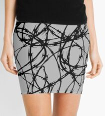 Razor Wire by Chillee Wilson Mini Skirt