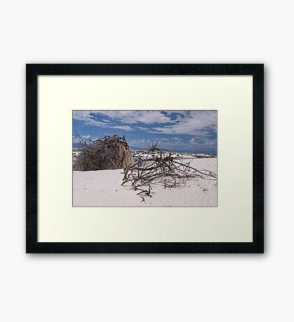 Shifting, whispering sands Framed Print