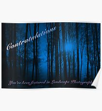 You've Been Featured in Landscape Photography Poster