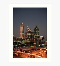 City Lights From Kings Park Perth WA Impression artistique