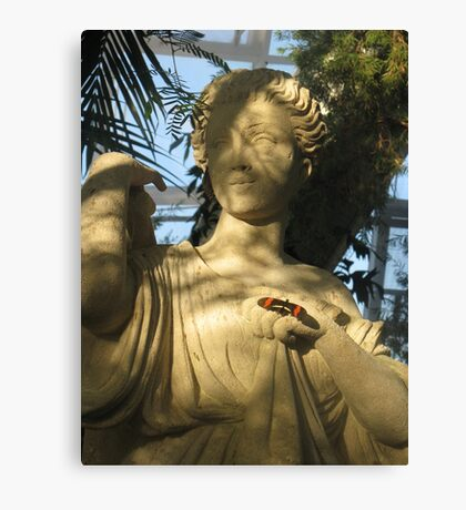 butterfly statue Canvas Print
