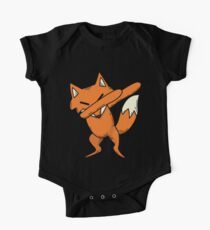 Dabbing Fox Art | Cool Great Fan of Foxes Art Party Gift Baby Body Kurzarm