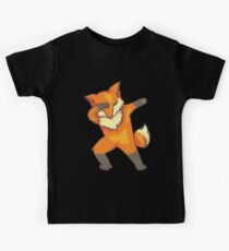 Dabbing Fox Art | Cool Great Fan of Foxes Art Party Gift Kinder T-Shirt