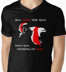 God of War Fear The Man Men's V-Neck T-Shirt