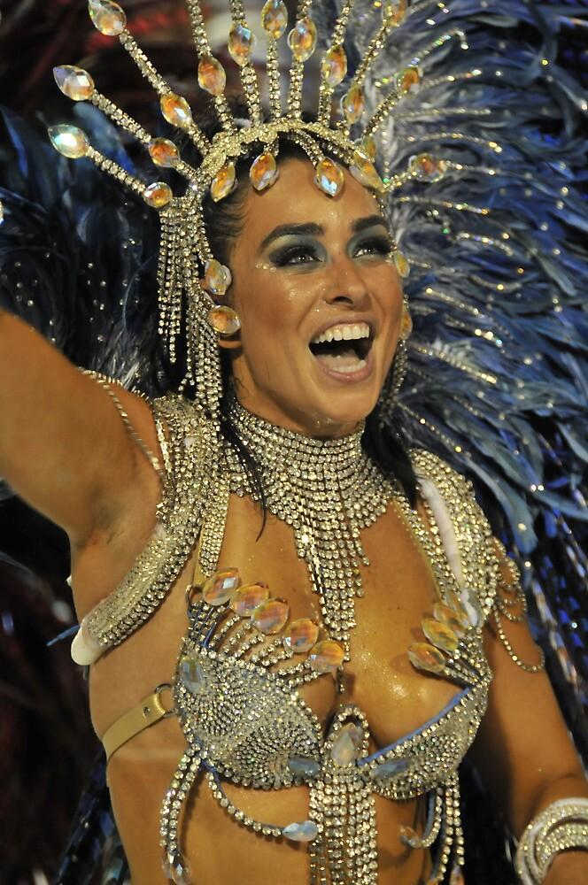 Carnival Dancer in Sambodromo, Rio de Janeiro by Quasebart