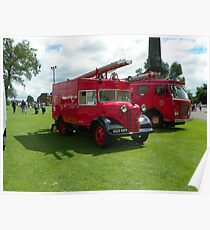 2 Old Fire Engines Poster