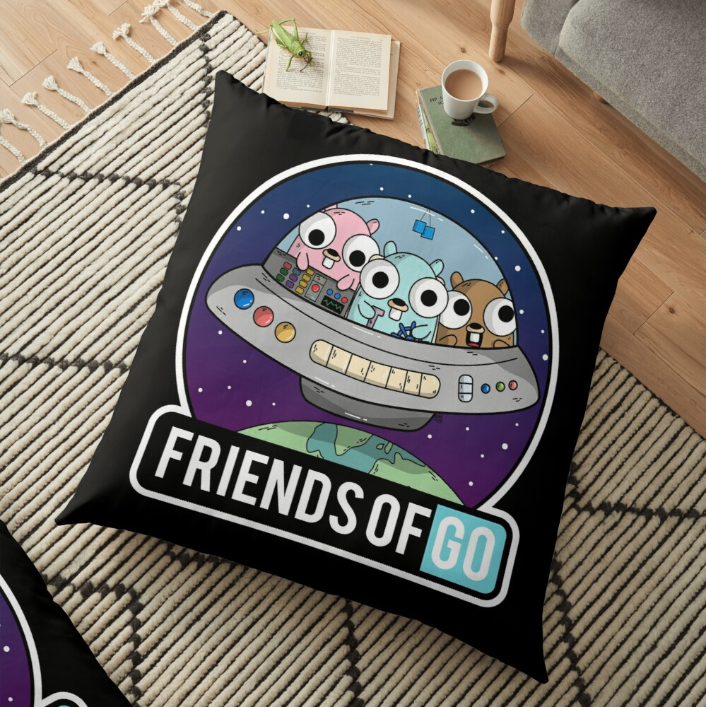 Friends of Go Cojines de suelo