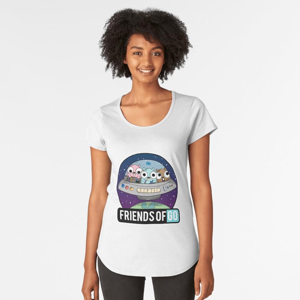 Friends of Go Camiseta premium de cuello ancho