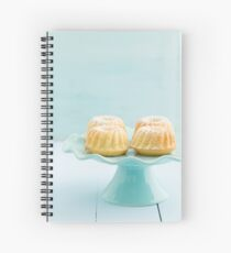 Mini bundt cakes on cake stand Spiral Notebook