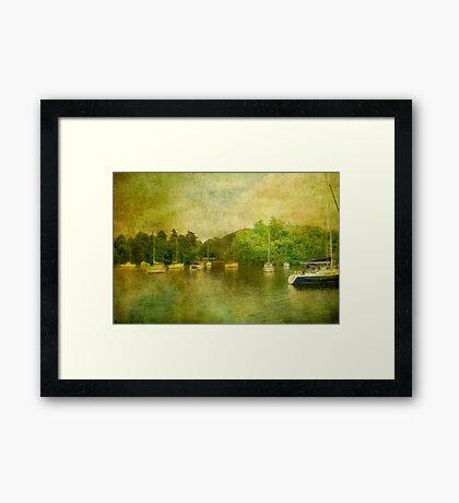 Boats on Windermere Framed Print