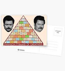 Postales La pirámide de la grandeza de Ron Swanson