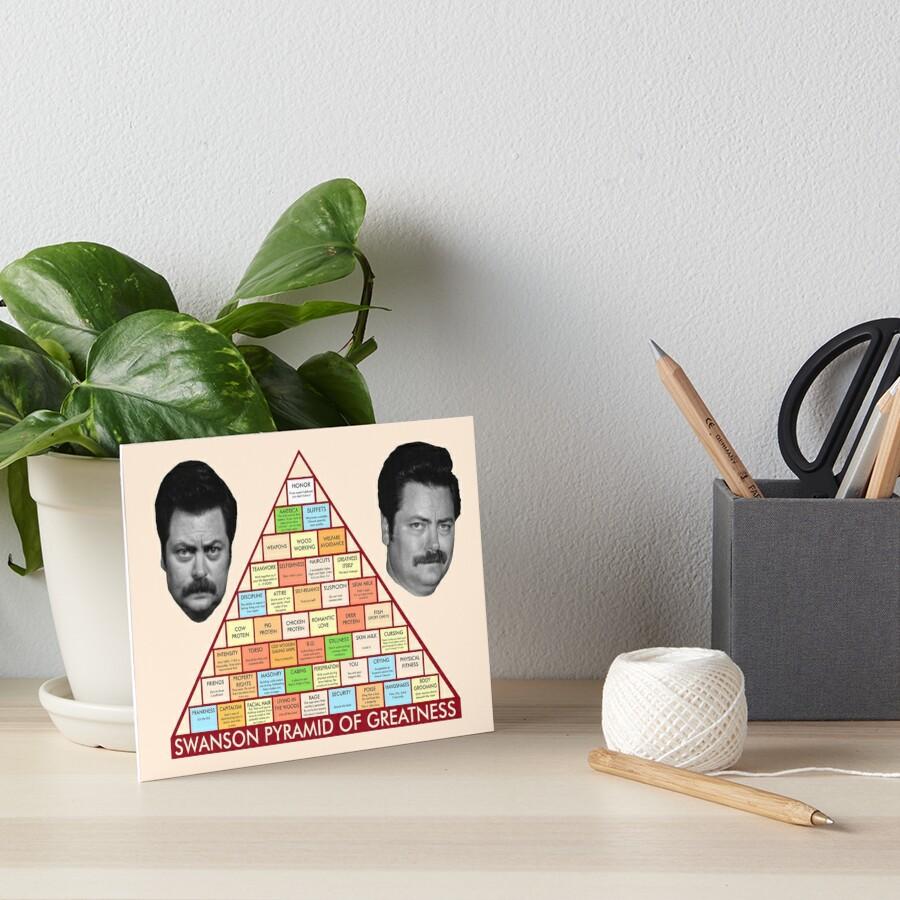Ron Swansons Pyramide der Größe Galeriedruck