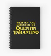 Geschrieben und Regie von Quentin Tarantino Spiralblock