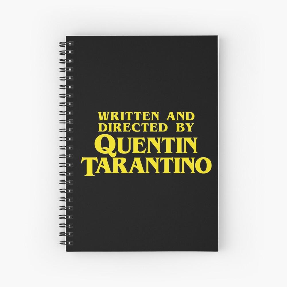 Escrito y dirigido por Quentin Tarantino Cuaderno de espiral