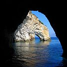 Under an Arch - Framing the Blue Caves, Zante by Honor Kyne