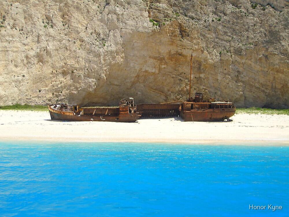 Navagio - Shipwreck Cove by Honor Kyne