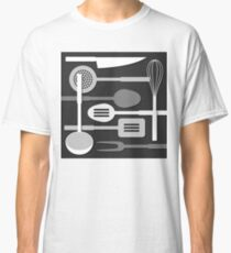 Kitchen Utensil Silhouettes Monochrome III Classic T-Shirt