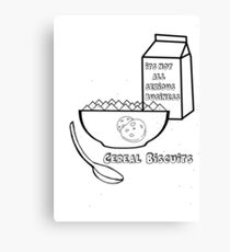 Cereal Biscuits Canvas Print