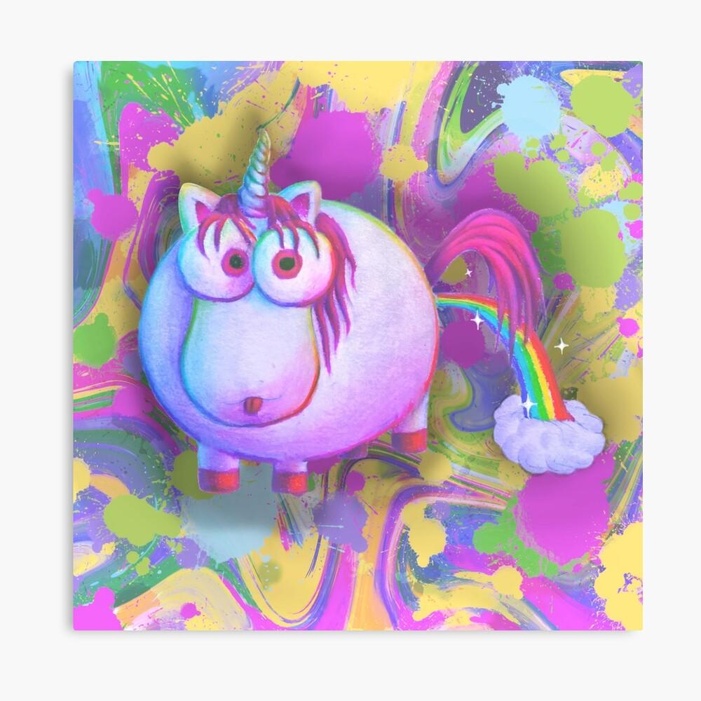 Goobicorn Rainbow Canvas Print