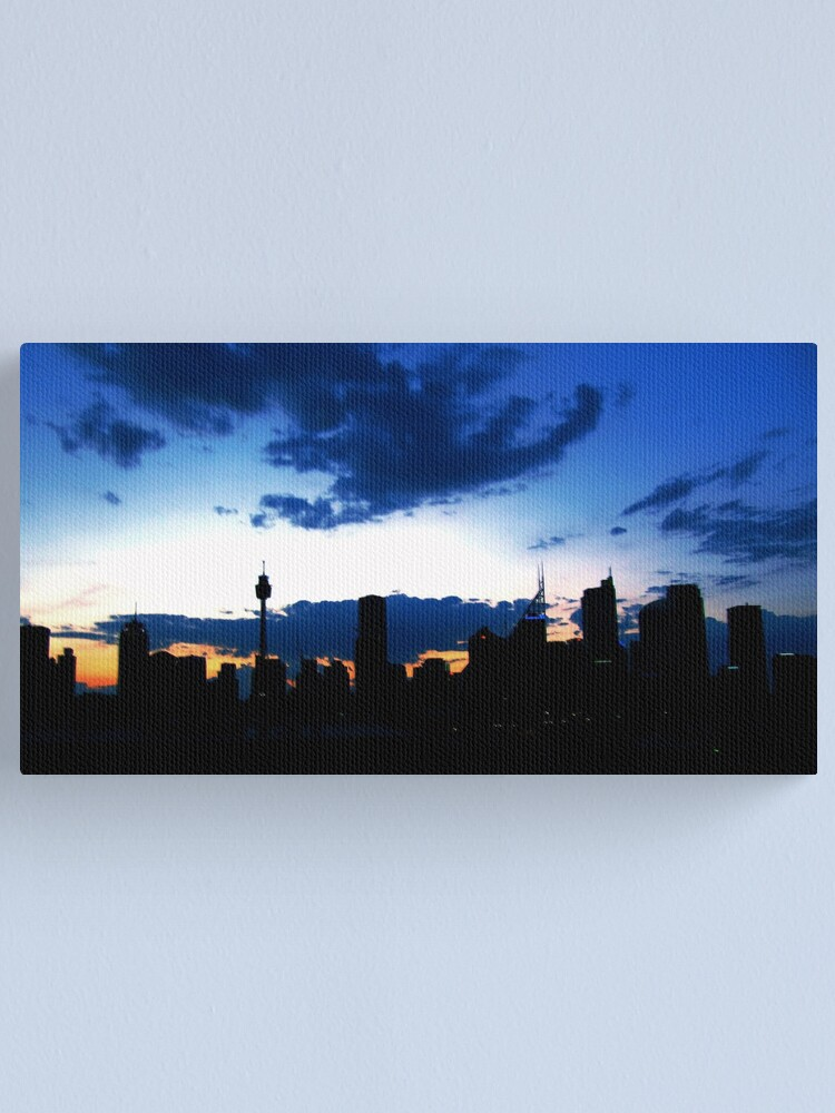 Alternate view of Blue Sydney Sunset Canvas Print