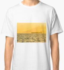 Ship sailing in ocean Classic T-Shirt