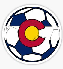 Colorado flag soccer ball Sticker