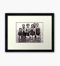 70+ years ago, girls just wanted to have fun!!  Framed Print