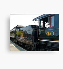 #40 Prepares to Depart the Essex Railroad Station - Connecticut, USA Canvas Print
