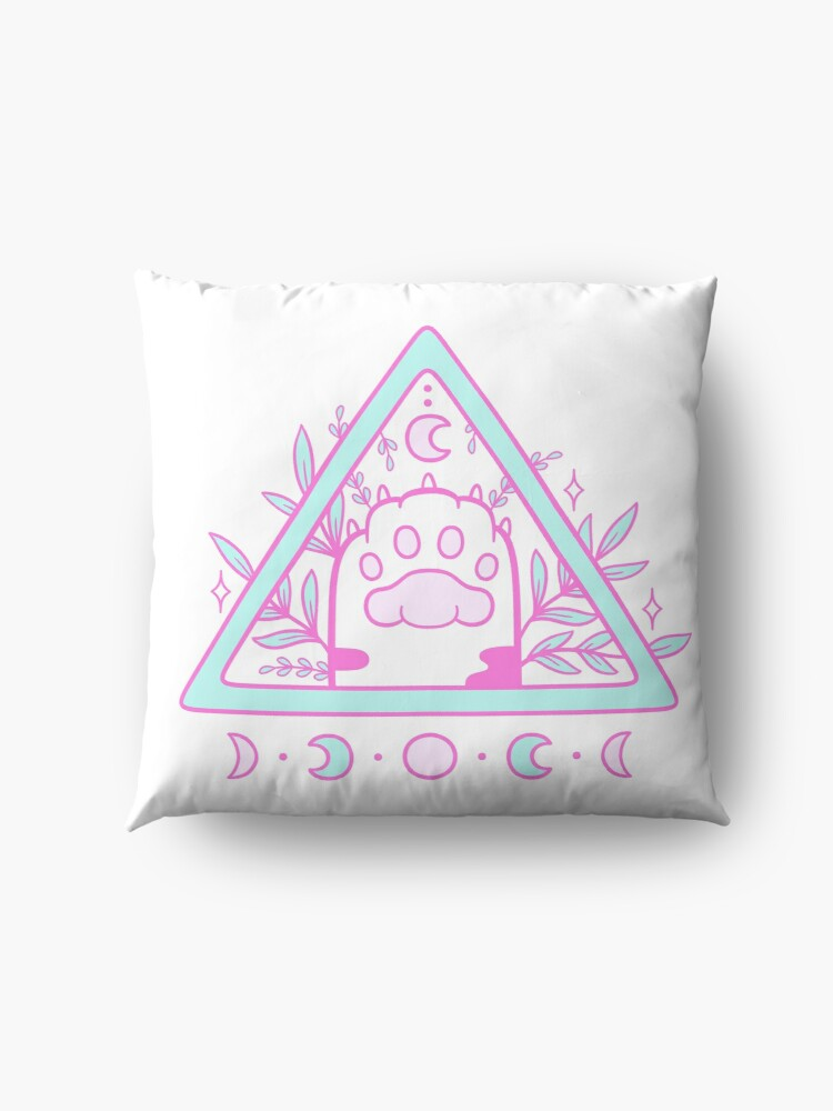Alternate view of Witchy Cat Paw 02 Floor Pillow