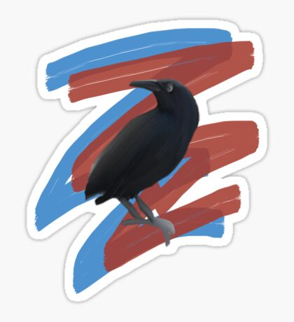 Black Bird 2 Sticker