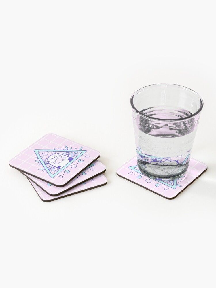 Alternate view of Witchy Cat Paw 03 Coasters (Set of 4)