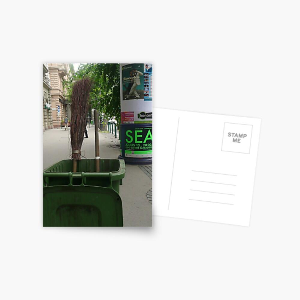 Street Sweeper Postkarte