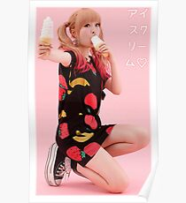 "Kyary Pamyu Pamyu ""Ice Cream"" Poster"