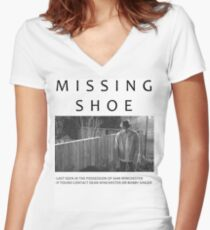 I lost my shoe... Women's Fitted V-Neck T-Shirt