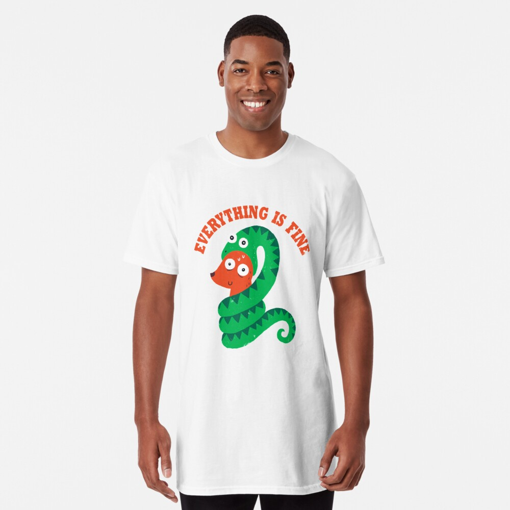 Everything Is Fine Long T-Shirt