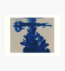 Water and Ink Tranformation pt 3 Art Print