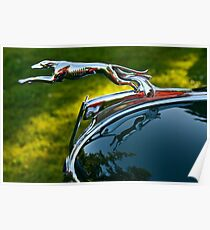Ford V8 Hood Ornament Poster